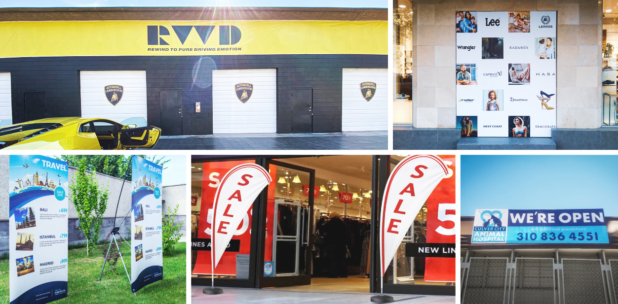 Commercial sign ideas displayed on banner examples