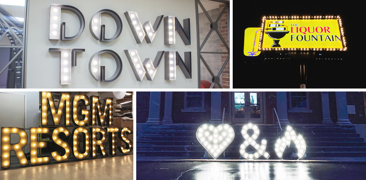 Creative signage ideas in a vintage style for inspiration