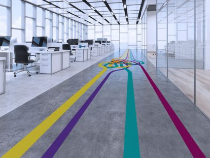 custom office floor design idea