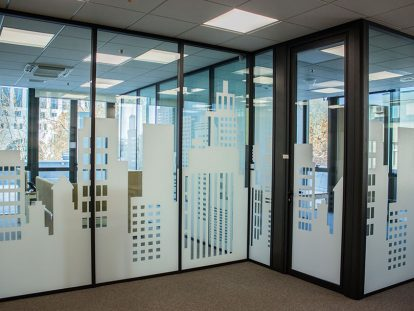 custom office window design idea