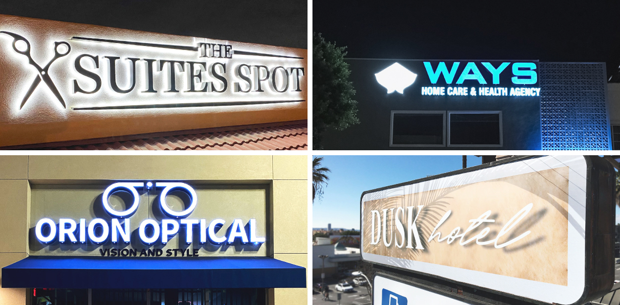 Illuminated outdoor business sign ideas taken from successful projects for inspiration