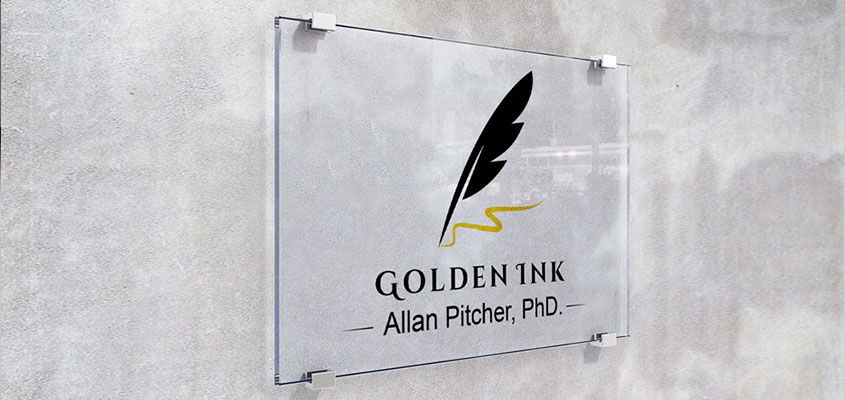 Minimalist eye catching office name board design idea from Golden Ink