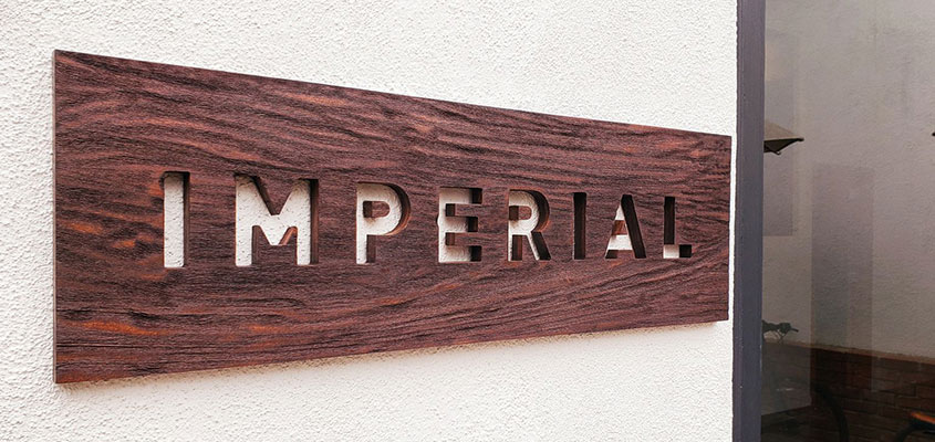 Office entry wooden sign design idea from Imperial
