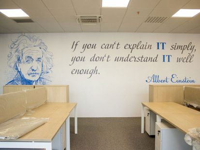 office wall design ideas with quotes