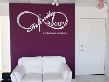 office wall design with creative lettering-Frontsigns