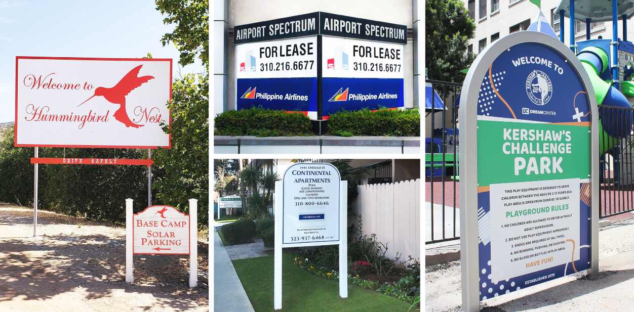 Outdoor business sign ideas displaying commercial information