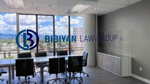 Bibyan office vinyl lettering