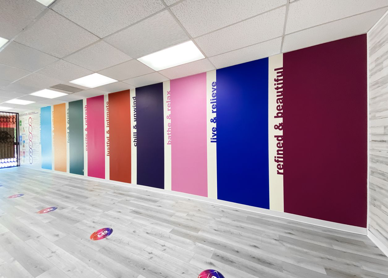 Colorful custom wall decals