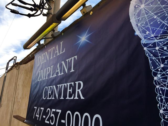 Dental implant center banner