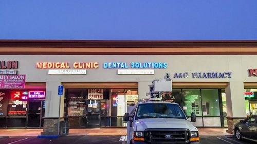 Dental solutions illuminated letters