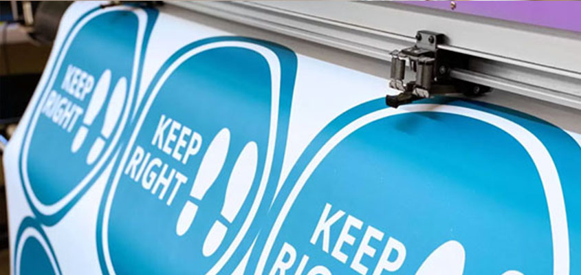 Keep Right floor notice for business reopening after the pandemic