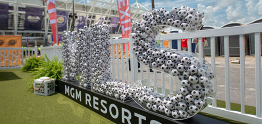 MGM ball filled letters