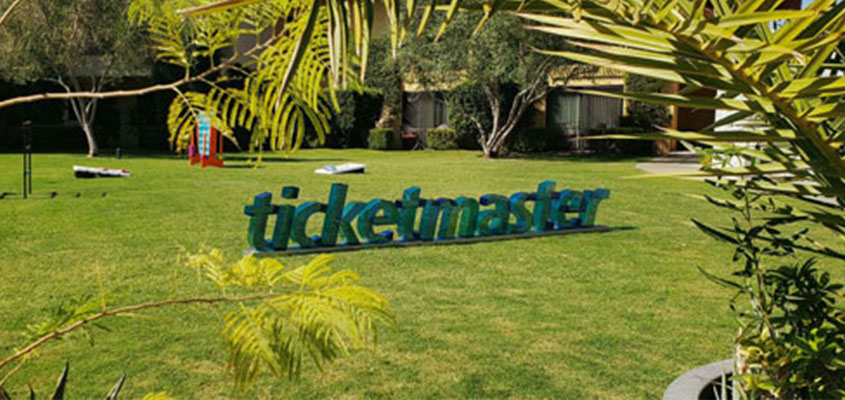 Ticketmaster green letters laser cutting project