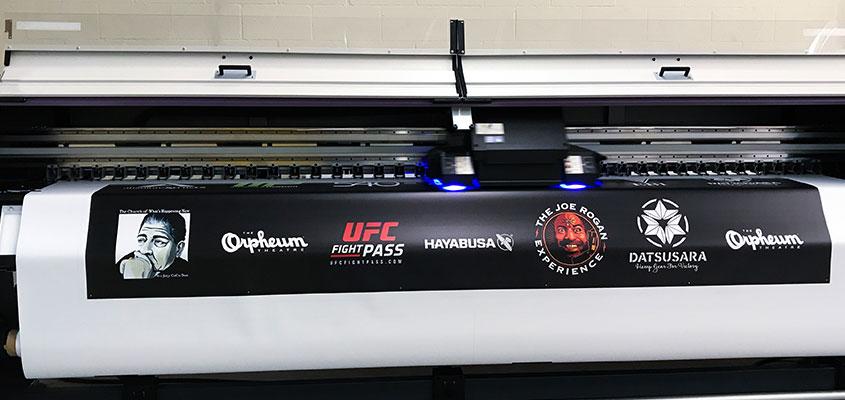 Form of UV-based large format printing