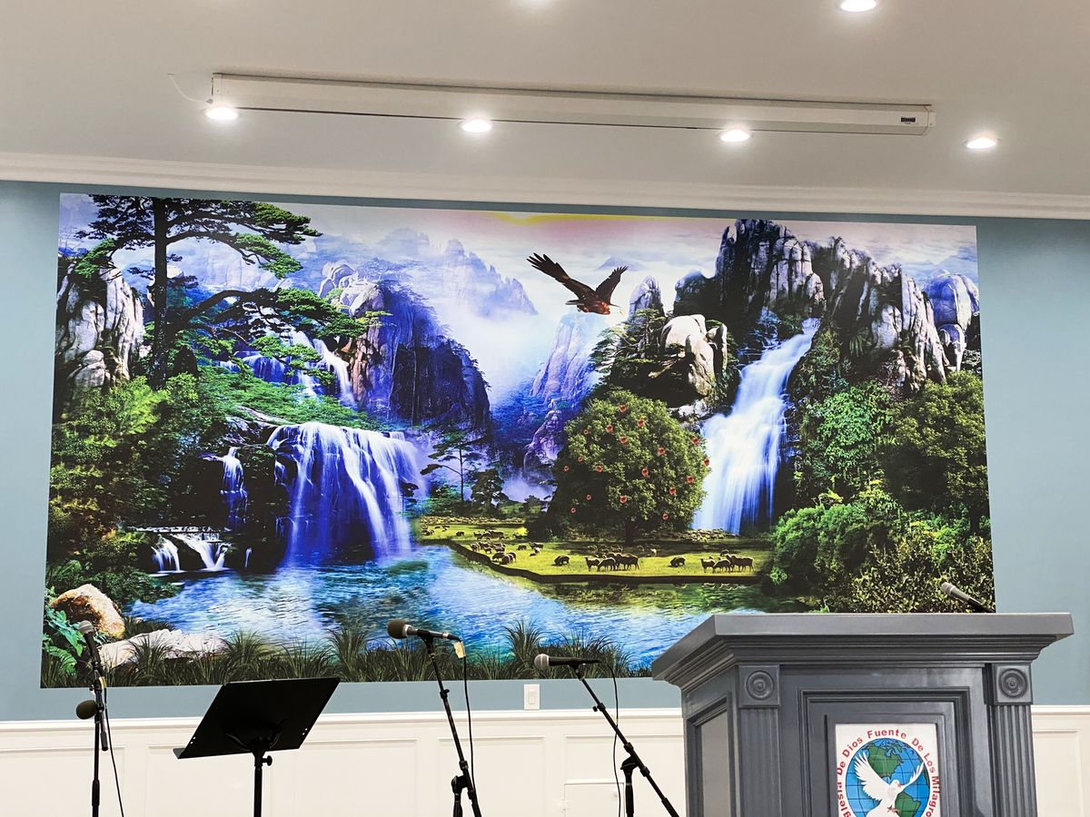 Waterfall decorative wall decal