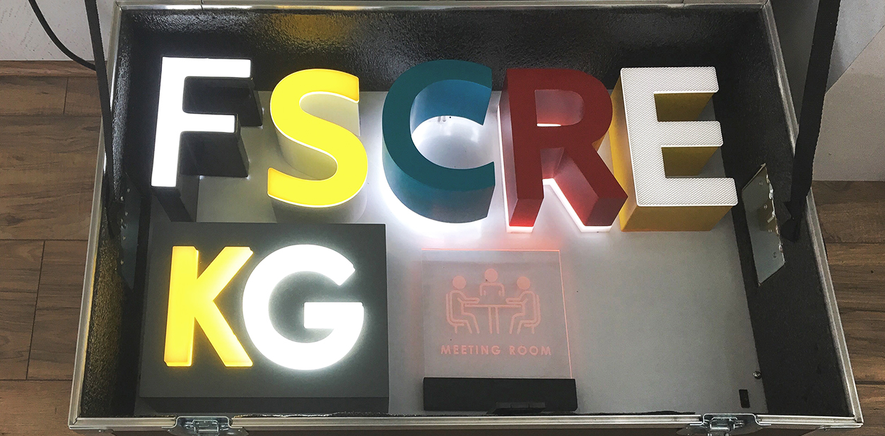 Colorful 3D letters for laser cutting project inspiration
