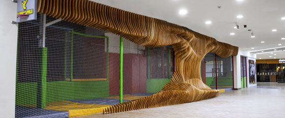 cool huge wooden decorative structure