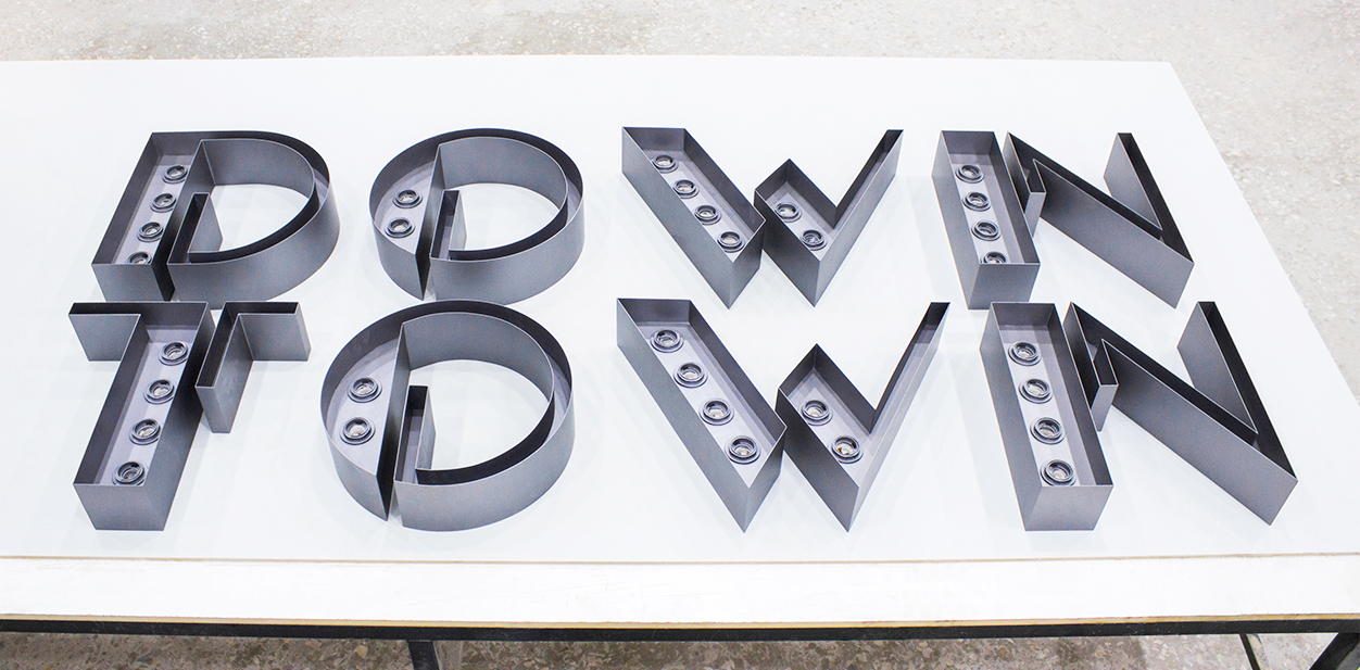 Cool laser cut project with brand name letters for inspiration