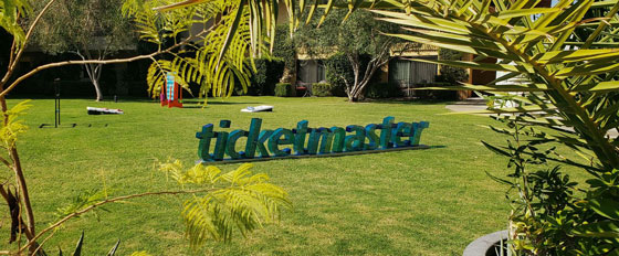 Ticketmaster creative outdoor branded letters