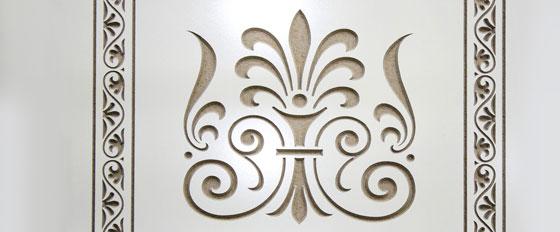 engraved decorative element idea