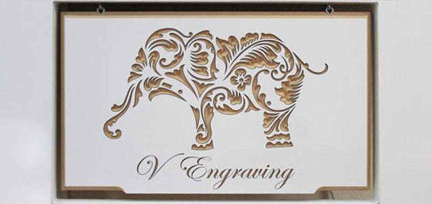 engraved decorative elephant mural idea for inspiration