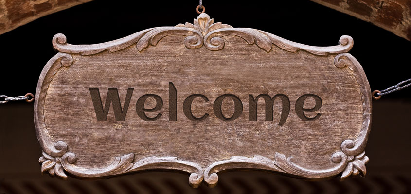 laser engraved welcome sign idea for inspiration