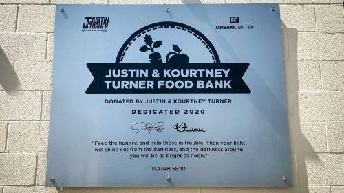 food bank aluminum sign