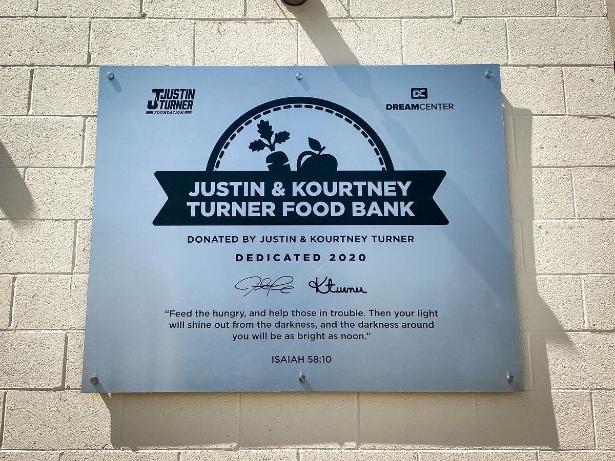 food bank aluminum sign