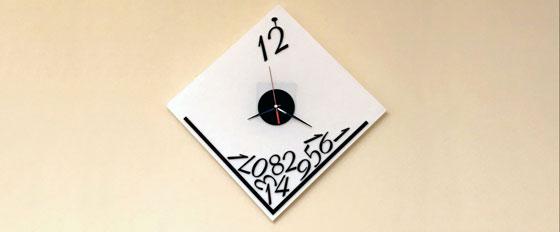 laser cut acrylic wall clock idea