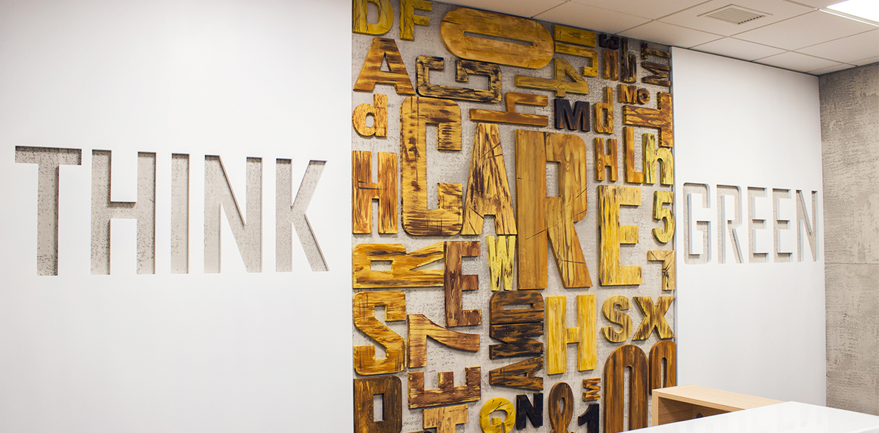 Creative laser cut wood idea with wall-mounted letters