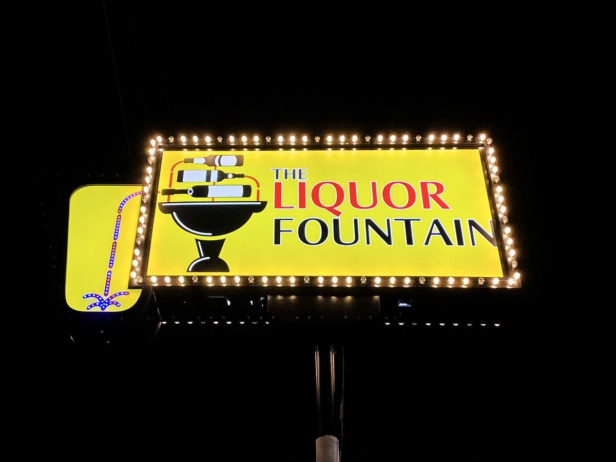 liquor store pole sign