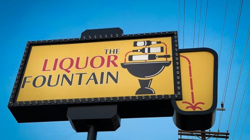 liquor store pylon sign