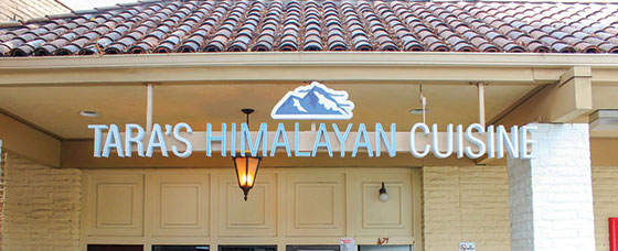 Tara's Himalayan Cuisine restaurant entry area branded design concept