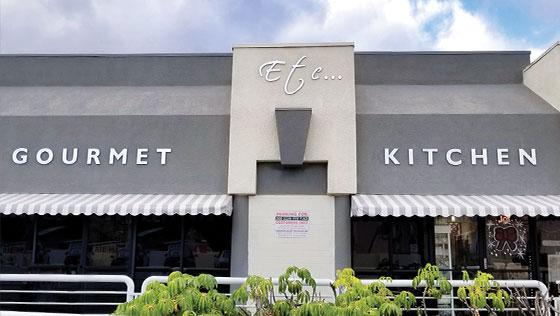 Etc Gourmet Kitchen restaurant exterior branding concept