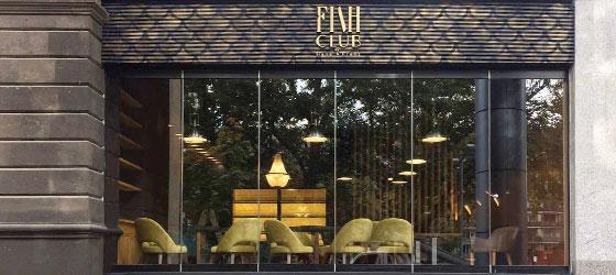 Fish Club restaurant interior space design idea