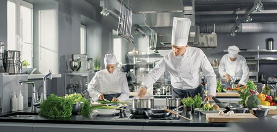 restaurant kitchen interior space design idea