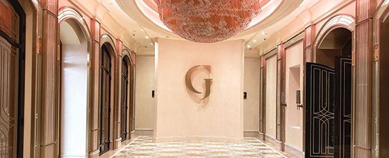 G luxurious restaurant interior sign design idea