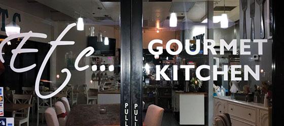 Etc Gourmet Kitchen restaurant window design concept