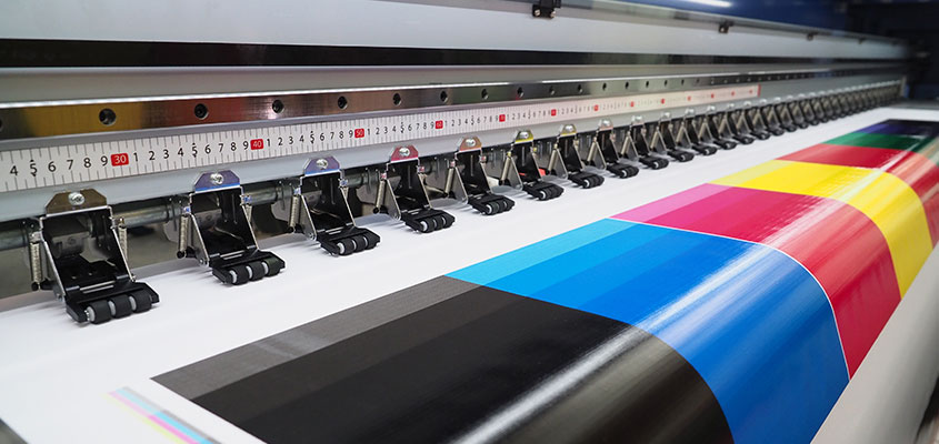 Solvent inkjet printing as a type of large format printing