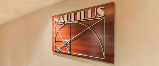 Nautilus wall plate with cool patterns