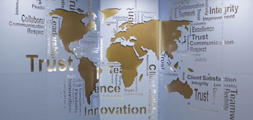 world map wall panel great laser engraving idea for corporate office