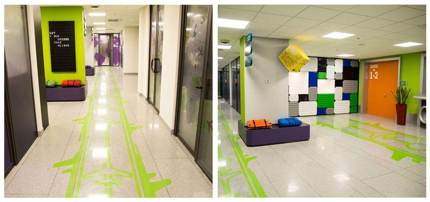 Ameriabank creative guiding floor stickers designs