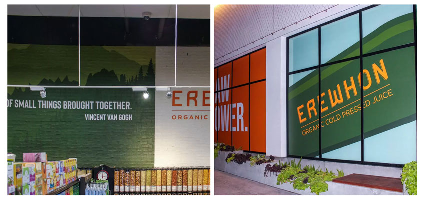 Erewhon creative aesthetic adhesive solutions with impressive fonts