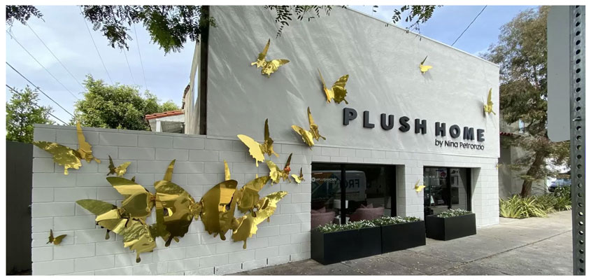 Plush Home exterior design with cute sign designs