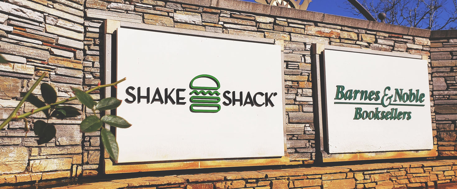 Shake Shack push through sign