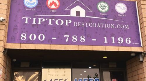 Composite aluminum sign installation