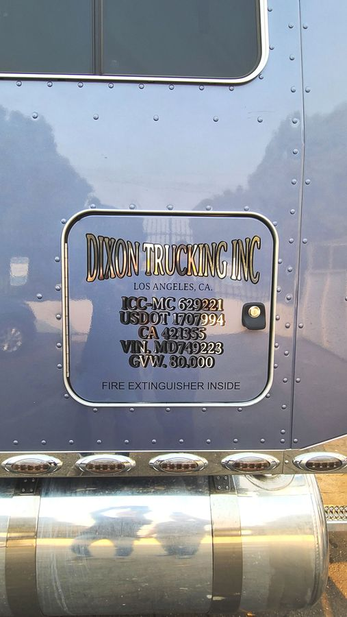 Dixon trucking INC decal