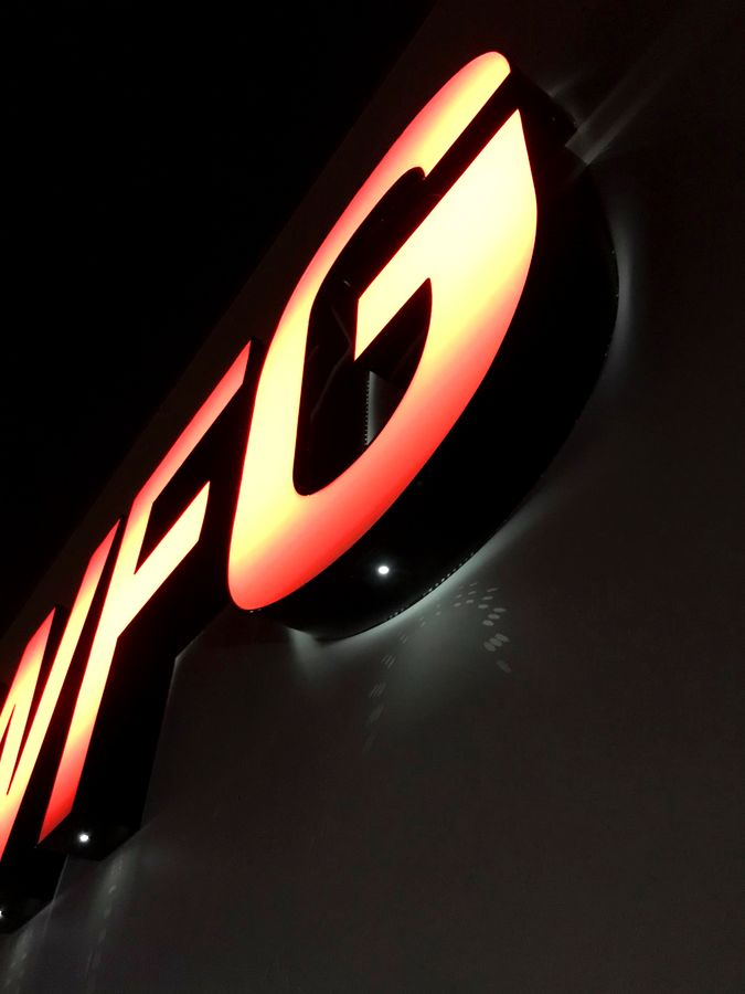 GWFG Stratus Group dual-lit 3d sign displaying the company name made of aluminum and acrylic