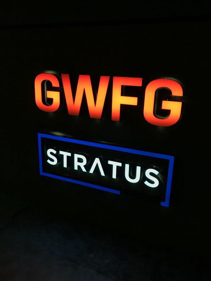 GWFG Stratus illuminated signs