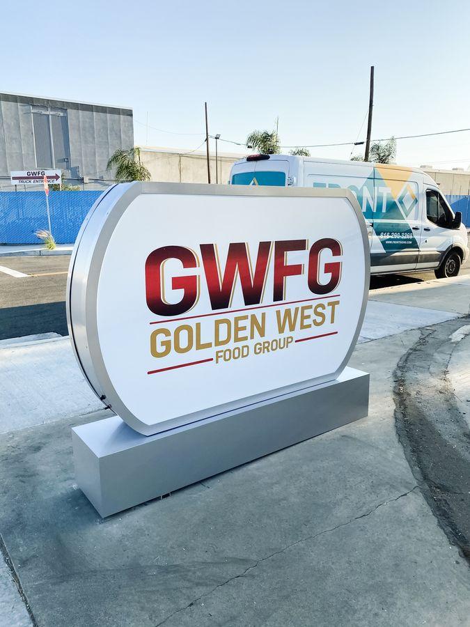 Golden West lighted sign